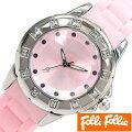 【あす楽対応】フォリフォリ腕時計FolliFollie時計FolliFollie腕時計フォリフォリ時計レディース/ピンクWF8A024ZPPI[アナログおしゃれジュエリーストーンダイヤクリスタルジルコニアシルバー銀][送料無料]