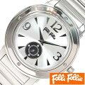 【あす楽対応】フォリフォリ腕時計FolliFollie時計FolliFollie腕時計フォリフォリ時計メンズレディースユニセックス/男女兼用/シルバーWF8T046BSSXX[アナログおしゃれジュエリーストーンダイヤクリスタルジルコニア銀][送料無料]