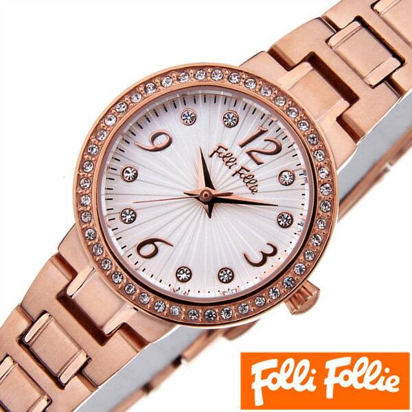 フォリフォリ腕時計 folli follie時計 folli follie 腕時計 フォリフォリ 時計 アリアウォッチ ARRIA WATCH レディース シルバーホワイト WF2B015BSS [アナログ 人気 セレブ ピンクゴールド かわいい ギフト プレゼント ご褒美][新生活 入学][おしゃれ][新生活]