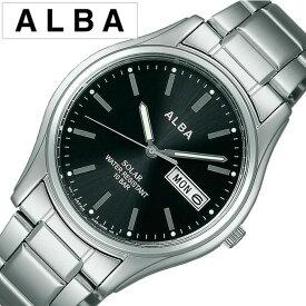 [あす楽]アルバ 腕時計 メンズ ソーラー ALBA アルバ 時計 アンジェーヌ ingene ブラック AEFD540 [ アナログ ペア モデル SEIKO セイコー シルバー 銀 黒 3針 ][防水 おしゃれ ブランド プレゼント ギフト ]
