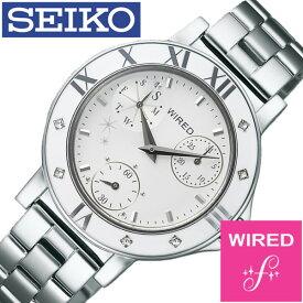 ワイアードエフ腕時計 WIREDf時計 WIRED f 腕時計 ワイアード エフ 時計 レディース ホワイト AGET403 [アナログ 防水 SEIKO シルバー VD76][ギフト プレゼント ご褒美][おしゃれ 腕時計] クリスマス 誕生日 冬ギフト