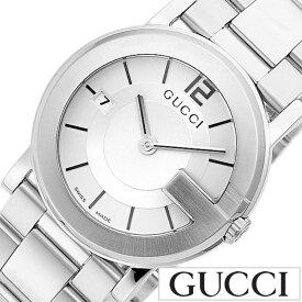 【シンプルだからお仕事にも使いやすい♪】GUCCI腕時計 [グッチ時計] ジーラウンド (G-Round)女性 レディース 彼女 妻 [ 人気 ブランド おしゃれ ステンレス シルバー カレンダー ラウンド シンプル プレゼント ギフト ][送料無料]
