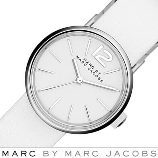 マークバイマークジェイコブス腕時計 MARCBY MARCJACOBS時計 MARC BY MARC JACOBS 腕時計 マーク バイ マーク ジェイコブス 時計 ペギー レディース ホワイト MBM1367 [人気 新作 ブランド 革 ベルト レザー ホワイト][ プレゼント ギフト][おしゃれ 防水 ]