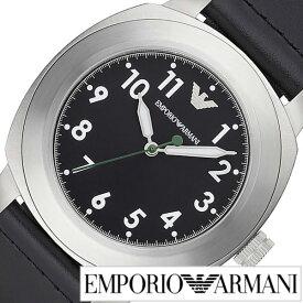 [当日出荷] エンポリオアルマーニ 腕時計[ARMANI 時計]エンポリオ アルマーニ 時計[EMPORIO ARMANI 腕時計]アルマーニ時計 アルマーニ腕時計 スポルティーボ SPORTIVO メンズ ブラック AR6057 [エンポリ EA 新作 人気 防水 革ベルト レザー シルバー] 誕生日