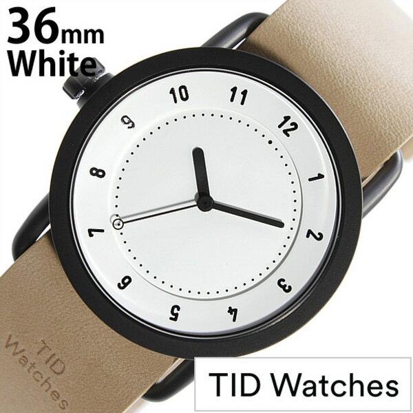 ティッドウォッチ腕時計 TIDWatches時計 TID Watches 腕時計 ティッド ウォッチ 時計 TIDNo. 1 レディース ホワイト TID01-WH36-N [革 ベルト 正規品 おしゃれ 防水 替え 北欧 アナログ ベージュ ブラウン ブラック][プレゼント ギフト][おしゃれ腕時計][新生活 社会人]