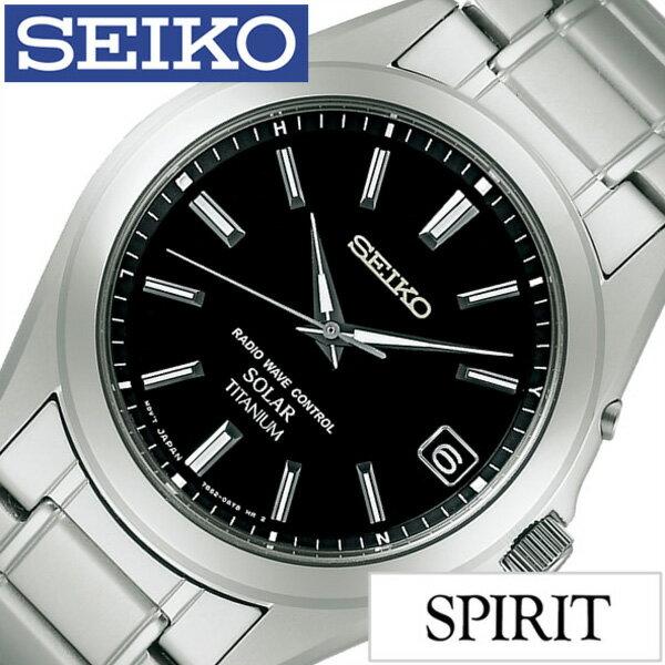 セイコー腕時計 SEIKO時計 SEIKO 腕時計 セイコー 時計 スピリット SPIRIT メンズ ブラック SBTM217 [メタル ベルト 正規品 防水 ソーラー 電波 シルバー チタン モデル ギフト バーゲン プレゼント ご褒美][おしゃれ 腕時計]