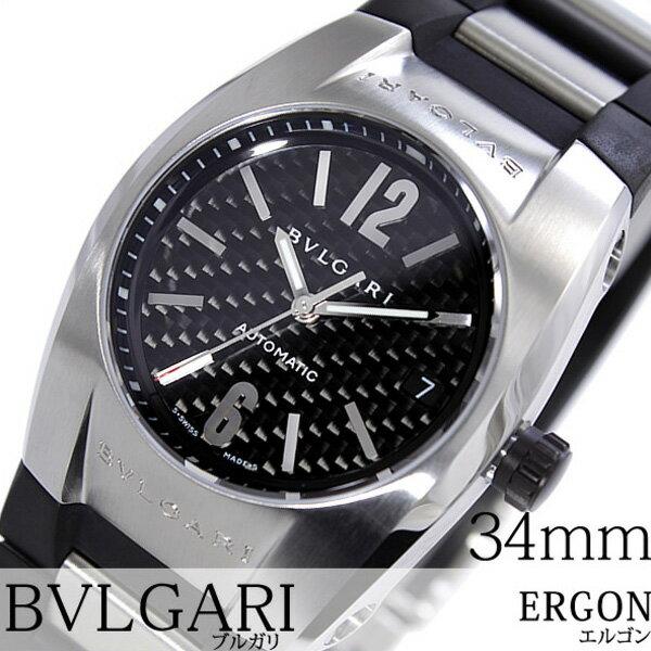 ブルガリ 腕時計 [BVLGARI時計]( BVLGARI 腕時計 ブルガリ 時計 ) エルゴン ( ERGON ) メンズ 腕時計 ブラック EG35BSVD [ウレタン ベルト 機械式 自動巻 メカニカル スイス シルバー オート ボーイズ おしゃれ ブランド プレゼント ギフト ]