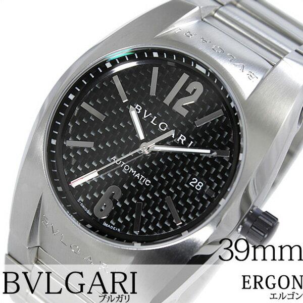 ブルガリ 腕時計 [BVLGARI時計]( BVLGARI 腕時計 ブルガリ 時計 ) エルゴン ( ERGON ) メンズ ブラック EG40BSSDN [メタル ベルト 機械式 自動巻 メカニカル スイス シルバー オート マチック][バーゲン プレゼント ギフト][おしゃれ 腕時計]