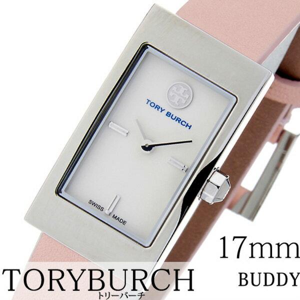 トリーバーチ 腕時計 [TORYBURCH時計]( TORYBURCH 腕時計 トリーバーチ 時計 ) ( BUDDY SIGNATURE ) レディース ホワイト TRB2004 [革 ベルト ブラウン シルバー ブレスレット アクセサリー デザイン][バーゲン プレゼント ギフト][おしゃれ 腕時計]