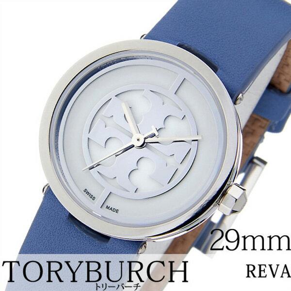 トリーバーチ 腕時計 [TORYBURCH時計]( TORYBURCH 腕時計 トリーバーチ 時計 ) ( REVA ) レディース ホワイト TRB4006 [革 ベルト ブルー シルバー ベージュ ブレスレット アクセサリー デザイン][バーゲン プレゼント ギフト][おしゃれ 腕時計]