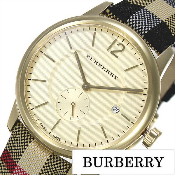 バーバリー 腕時計 メンズ 男性 [BURBERRY] 時計 ゴールド BU10001 [おすすめ ブランド プレゼント ギフト オシャレ レザー 革 キャンバス チェック柄][おしゃれ 腕時計]