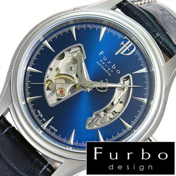 フルボデザイン 腕時計 [Furbodesign時計]( Furbo design 腕時計 フルボ デザイン 時計 ) メンズ 腕時計 ブルー F5025NBLBL [革 ベルト 正規品 機械式 自動巻 メカニカル オートマチック オープンハート ネイビー シルバー][プレゼント ][ おしゃれ ブランド ]