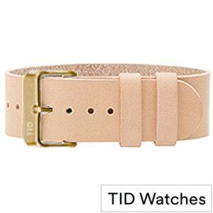 ティッドウォッチ 腕時計 替えベルト [TIDWatchesベルト]( TID Watches 腕時計 替えベルト ティッド ウォッチ ベルト ) メンズ レディース ベルト - TID-BELT-GD-N [革 ベルト 正規品 防水 腕時計 替えベルト 北欧 ベージュ ゴールド NATURAL ナチュラル][おしゃれ 腕時計]