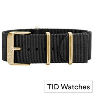 ティッドウォッチ 腕時計 替えベルト[TIDWatchesベルト]( TID Watches 腕時計 替えベルト ティッド ウォッチ ) メンズ レディース - TID-BELT-GD-NBK[NATO 正規品 防水 北欧 ナトー ブラック ゴールド NYLON ナイロン プレゼント ギフト][ おしゃれ ブランド ]