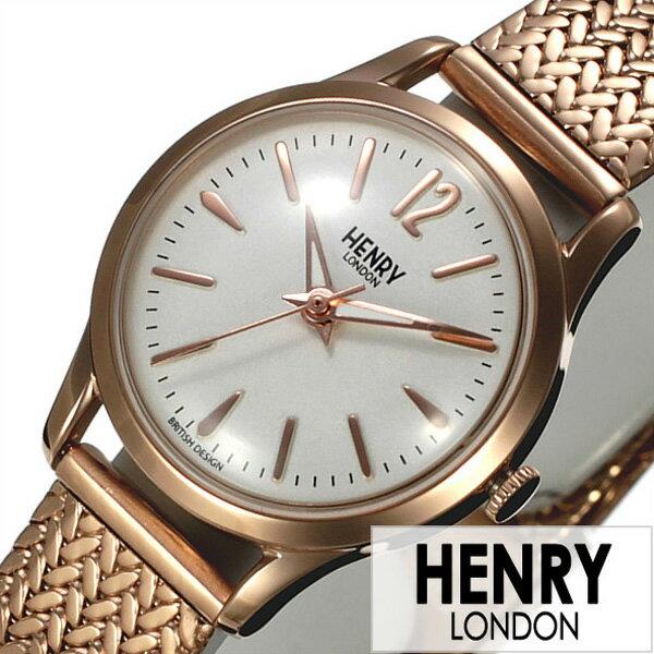 ヘンリーロンドン 腕時計 HENRYLONDON時計 HENRY LONDON 腕時計 ヘンリー ロンドン 時計 リッチモンド RICHMOND レディース ホワイト HL25-M-0022[人気 新作 ブランド イギリス 防水 シンプル メタル ベルト メッシュ ピンクゴールド プレゼント ギフト][おしゃれ 腕時計]