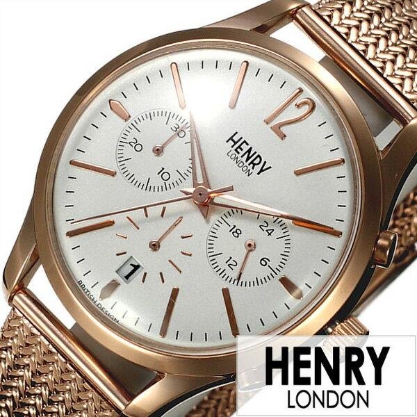 ヘンリーロンドン 腕時計 HENRYLONDON時計 HENRY LONDON 腕時計 ヘンリー ロンドン 時計 リッチモンド RICHMOND レディース ホワイト HL39-CM-0034[ ペアウォッチ 人気 新作 ブランド イギリス シンプル メタル ベルト メッシュ ピンクゴールド プレゼント ギフト ]