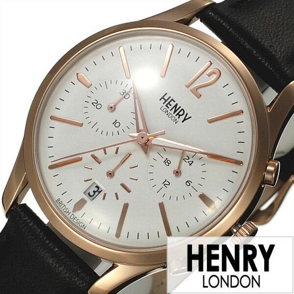 \10%OFF/ヘンリーロンドン 腕時計 HENRYLONDON時計 HENRY LONDON 腕時計 ヘンリー ロンドン 時計 リッチモンド RICHMOND メンズ レディース ホワイト HL39-CS-0036[ ペアウォッチ 人気 ブランド イギリス シンプル 革 レザー ブラック ピンクゴールド プレゼント ギフト ]