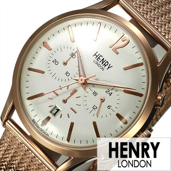 ヘンリーロンドン 腕時計 HENRYLONDON時計 HENRY LONDON 腕時計 ヘンリー ロンドン 時計 リッチモンド RICHMOND メンズ レディース ホワイト HL41-CM-0040[ ペアウォッチ 人気 新作 ブランド イギリス シンプル メタル メッシュ ピンクゴールド プレゼント ギフト ]