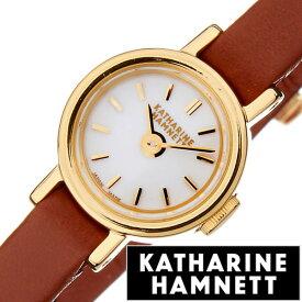 キャサリンハムネット腕時計 KATHARINE HAMNETT 腕時計 キャサリン ハムネット 時計 スモール ラウンド レディース ホワイト KH7811-04 [ 人気 ブランド トレンド おすすめ 高級 イギリス 女性 アンティーク レザー ベルト 革]