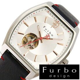 フルボデザイン腕時計 Furbodesign時計 Furbo design 腕時計 フルボ デザイン 時計 メンズ シルバー F8201SSINV [ 正規品 人気 新作 ブランド 防水 レザー 革 機械式 自動巻き スケルトン トノー ミネラルガラス ネイビー][おしゃれ 腕時計]
