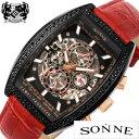 ゾンネ腕時計 SONNE時計 SONNE 腕時計 ゾンネ 時計 ハオリ HAORI PRODUCED メンズ/ブラック H018BBZ-RE [正規品/新作/…