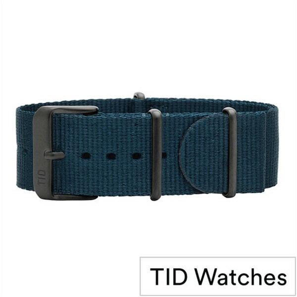ティッドウォッチ時計ベルト TIDWatches TID Watches 時計ベルト ティッド ウォッチ メンズ レディース TID-BELT-BK-NBL [正規品 替えベルト 付け替え 交換 ベルト 腕時計 ナイロン ストラップ バンド ブルー][おしゃれ 腕時計]