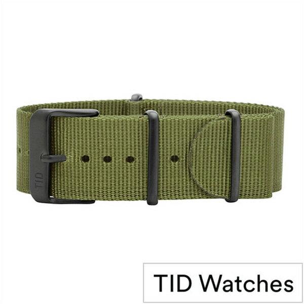 ティッドウォッチ時計ベルト TIDWatches TID Watches 時計ベルト ティッド ウォッチ メンズ レディース TID-BELT-BK-NGR [正規品 替えベルト 付け替え 交換 ベルト 腕時計 ナイロン ストラップ バンド グリーン][おしゃれ 腕時計]