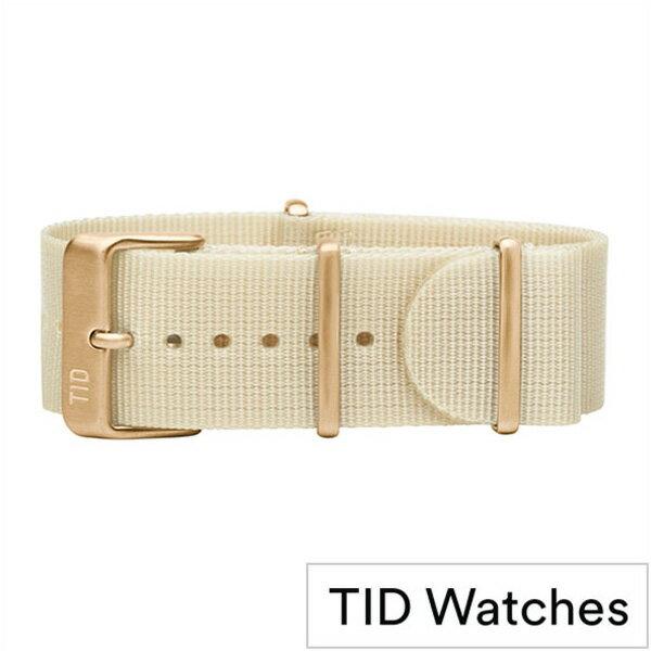 ティッドウォッチ時計ベルト TIDWatches TID Watches 時計ベルト ティッド ウォッチ メンズ レディース TID-BELT-GD-NWH [ 正規品 替えベルト 付け替え 交換 ベルト 腕時計 ナイロン ストラップ バンド ホワイト][ おしゃれ ブランド 防水 ]