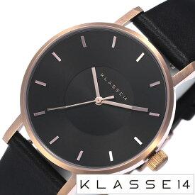 クラス14腕時計 KLASSE14時計 KLASSE14 腕時計 クラス 14 時計 ダークローズ DARKROSE レディース ブラック VO16RG005W [新作 人気 流行 ブランド ペアウオッチ 革 レザー ベルト メッシュ ローズゴールド ピンクゴールド][おしゃれ 腕時計]