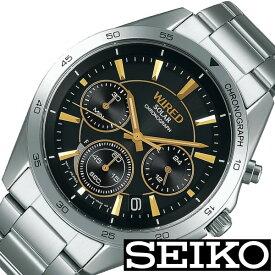 セイコー腕時計 SEIKO時計 SEIKO 腕時計 セイコー 時計 ワイアード WIRED メンズ ブラック AGAD089 [ 正規品 新作 ブランド 人気 ソーラー 防水 メタル シルバー] クリスマス 誕生日 冬ギフト