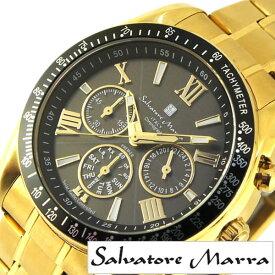 33b3990d8b サルバトーレマーラ腕時計 SalvatoreMarra時計 Salvatore Marra 腕時計 サルバトーレ マーラ 時計 メンズ ブラック  SM15116-GDBKGD