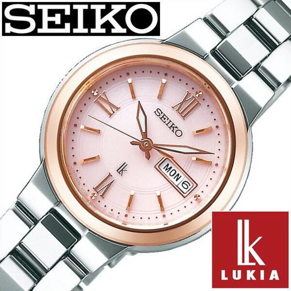 SEIKO 腕時計 セイコー 時計 ルキア LUKIA レディース ピンク SSVN030 [正規品 人気 ブランド ベーシック デザイン おしゃれ ビジカジ シンプル ラウンド カレンダー シルバー ステンレス ソーラー プレゼント ギフト]