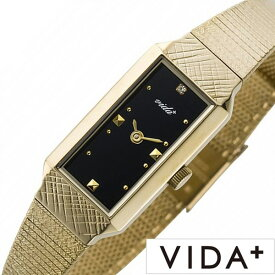 ヴィーダプラス時計 VIDA+腕時計 VIDA+ 腕時計 ヴィーダ プラス 時計 レクタンギュラー Rectangular レディース 女性 向け 妻 彼女 母 ブラック J83908-BK [ 正規品 ビーダ ブランド レトロ アンティーク メタル ゴールド ブレスレット ] 新生活 プレゼント ギフト