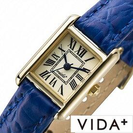 ヴィーダプラス時計 VIDA+腕時計 VIDA+ 腕時計 ヴィーダ プラス 時計 ミニレクタンギュラー レディース 女性 向け 妻 彼女 母 アイボリー J83914-LE-NV [ 正規品 ビーダ 新作 ブランド 革ベルト レザー スクエア型 ゴールド ブルー 送料無料] 新生活 プレゼント ギフト