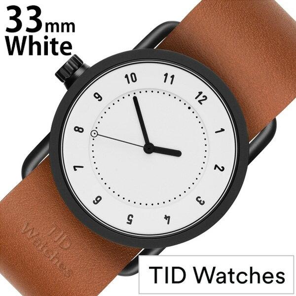 ティッドウォッチ腕時計 TIDWatches時計 TIDWatches 腕時計 ティッドウォッチ 時計 No.1 33mm レディース 妻 彼女 ホワイト TID01-WH33-T [ 正規品 人気 ブランド シンプル ミニマル おしゃれ 北欧 レザー 革ベルト ペアウォッチ ギフト プレゼント ][ 送料無料 ]
