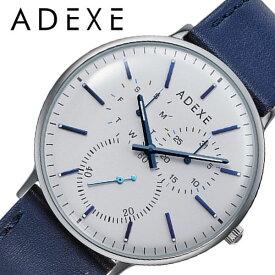 [あす楽]アデクス腕時計 ADEXE時計 ADEXE 腕時計 アデクス 時計 メンズ 白 2045C-T01 [ 正規品 人気 ブランド おすすめ 防水 革ベルト レザー カレンダー おしゃれ ファッション かっこいい 彼氏 旦那 プレゼント シンプル カジュアル 仕事 大人 大学生 学生 ]