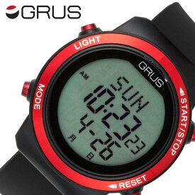 [ 万歩計 歩数計 機能付き]グルス腕時計 GRUS 時計 GRUS 腕時計 グルス 時計 歩幅がはかれるウォーキングウォッチ メンズ 男性 液晶 GRS001-01 [ 人気 ブランド おすすめ ウォーキング スポーツ ランニング デジタル カレンダー ストップウォッチ プレゼント ギフト ]