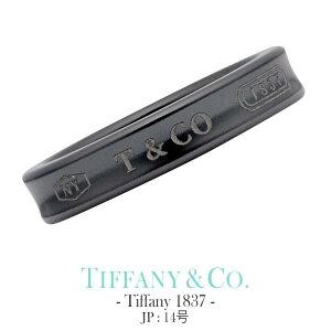 ティファニー 1837 リング【JP 14号】Tiffany&co ジュエリー Tiffany メンズ 25923669 [ 男性 彼氏 ギフト おしゃれ シンプル 指輪 ペアリング シンプル チタン 金属アレルギー対応 ] TRG