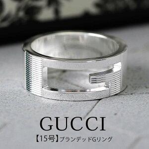 【15号】GUCCI ジュエリー グッチ リング 指輪 ブランデッド Gリング Branded メンズ 032660-09840-8106 15 [ 人気 ブランド 指輪 シンプル ペアリング 彼氏 彼女 おしゃれ シルバー カップル 男性 女性