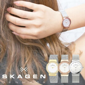 【30代女性向け】スカーゲン腕時計 SKAGEN時計 SKAGEN 腕時計 スカーゲン 時計 レディース 女性 ブランド 北欧 ゴールド ピンクゴールド [ 防水 薄型 軽量 メッシュ ステンレスベルト シンプル 鏡 ミラー おしゃれ かわいい ] 誕生日
