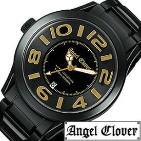 エンジェルクローバー腕時計[AngelClover時計](Angel Clover 腕時計 エンジェル クローバー 時計 )レフト クラウン(Left Crown) メンズ時計 LC44BBG[メタルベルト ブラック ゴールド 黒 金 ギフト プレゼント ご褒美][ おしゃれ ブランド ]