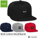 HUF キャップ 帽子 BOX LOGO SNAPBACK CAP ハフ ボックスロゴ スナップバック ブラック ネイビー グレー レッド メン…