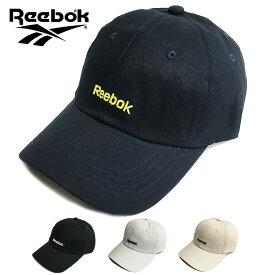 Reebok リーボック ローキャップ 帽子 ブラック ホワイト ネイビー クリーム カーブ キャップ スケート スケーター フェス イベント メンズ レディース 刺繍 LOGO ロゴ コットン 綿 6パネル