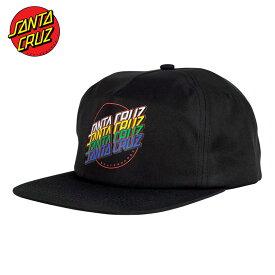 サンタクルーズ キャップ SANTA CRUZ SANTACRUZ 送料無料 ブランド メンズ レディース ブラック MULTI STRIP SNAPBACK LOW PROFILE HAT ロゴ スケート ストリート