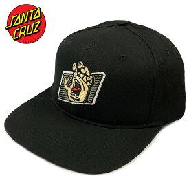 サンタクルーズ キャップ 送料無料 SANTA CRUZ SANTACRUZ ブランド メンズ レディース ブラック スナップバック WORK HAND ワークハンド ロゴ スクリーミングハンド スケート ストリート 帽子 BB キャップ ベースボールキャップ BASEBALL CAP