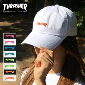 ゆうパケット送料無料 スラッシャー キャップ ローキャップ THRASHER 帽子 メンズ レディース ブランド cap マグロゴ MAGLOGO カーブ ブラック ホワイト ピンク ブルー グリーン オレンジ ネオンカラー