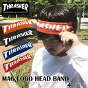 【ゆうパケット送料無料】 スラッシャー THRASHER ヘアバンド ヘッドバンド ヘアアクセサリー マグロゴ メンズ 頭 髪 …