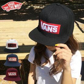 VANS キャップ cap バンズ ヴァンズ メンズ レディース ブランド ベースボール 帽子 送料無料 スナップバック ブラック LOGO SNAPBACK ロゴ ボックス バー スケート スケーター