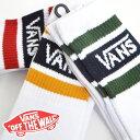 VANS バンズ ソックス 靴下 ラインソックス スケーターソックス 3足セット BORDER SOCKS COLLEGE ボーダー ロゴ スケ…