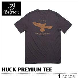 【ゆうパケット送料180円】 BRIXTON ブリクストン Tシャツ HUCK ウォッシュドブラック トップス スケート メンズ レディース ロンハーマン フェス サーフ